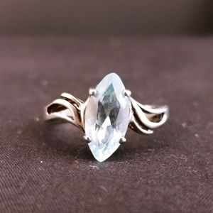 Aquamarine Sterling Silver Solitaire Unbranded
